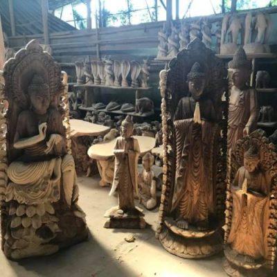 indonesie statues bali en bois