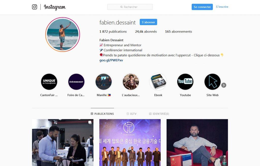 Fabien Dessaint avis ma communauté instagram