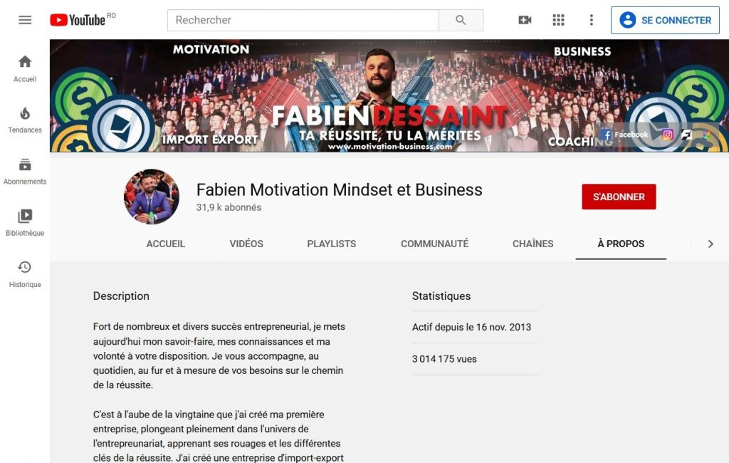 Fabien Dessaint avis ma communauté youtube
